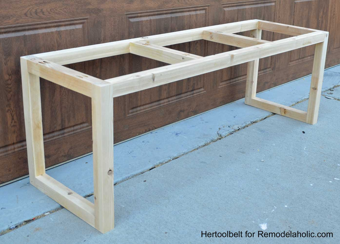 Remodelaholic | DIY Wood Chevron Bench with Box Frame