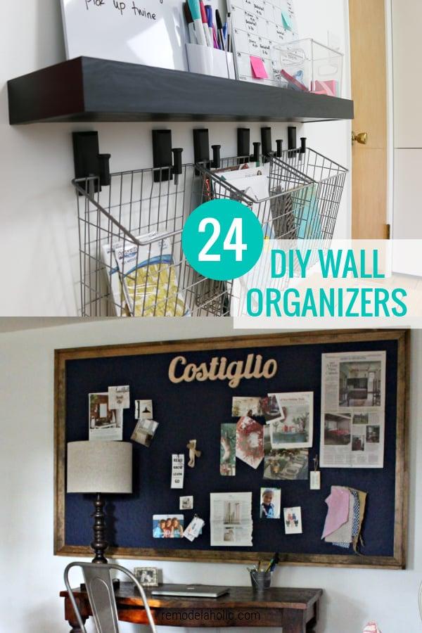 Idéias de organizador de parede faça você mesmo para paredes de organização familiar, remodelaholic