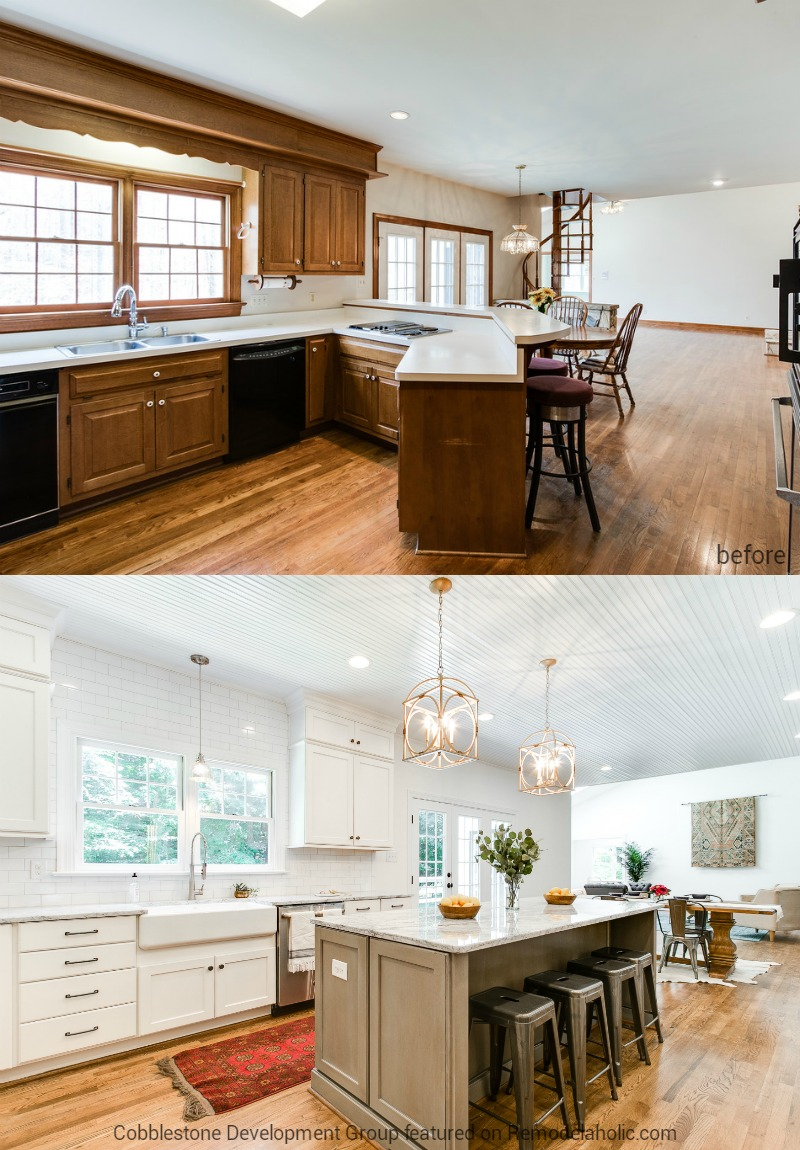 Remodelaholic Before After From Dated 1980 S Renovation To Modern Beautiful