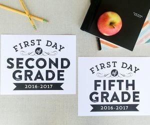 First Day of School Free Printable Signs for Photos