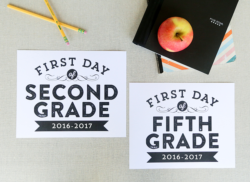 Remodelaholic | Printable First Day of School Signs (Updated for ...