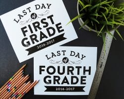 Last Day of School Free Printable Signs for Photos