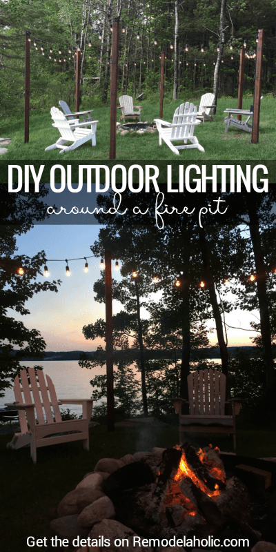 Create a magical summer getaway in your backyard with this easy DIY outdoor lighting solution, perfect for hanging around a fire pit or patio. Details on Remodelaholic.com