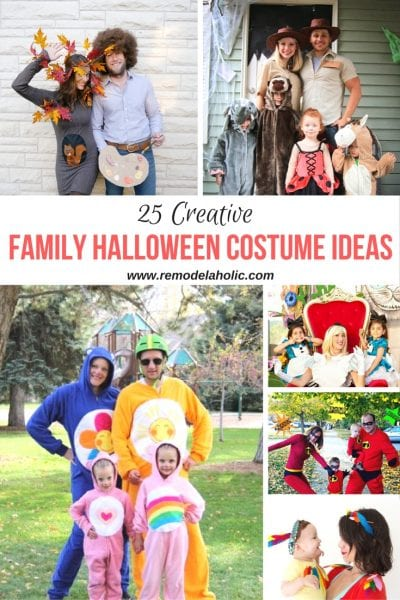 Family Halloween costume ideas featured on Remodelaholic.com