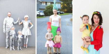 Family Halloween costume ideas from space to trolls and more featured on Remodelaholic.com