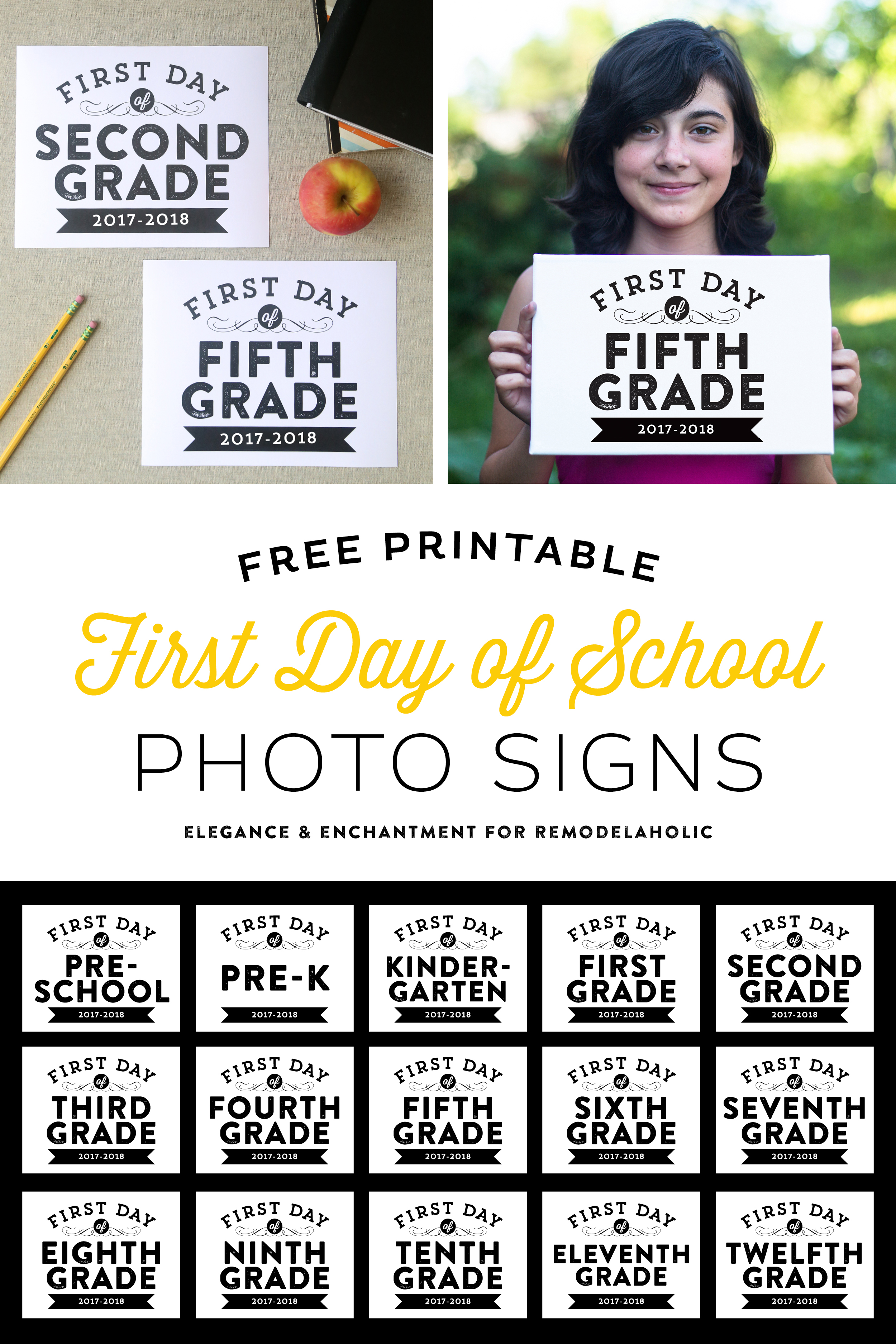 It's just a picture of Enterprising First Day of School Sign Free Printable