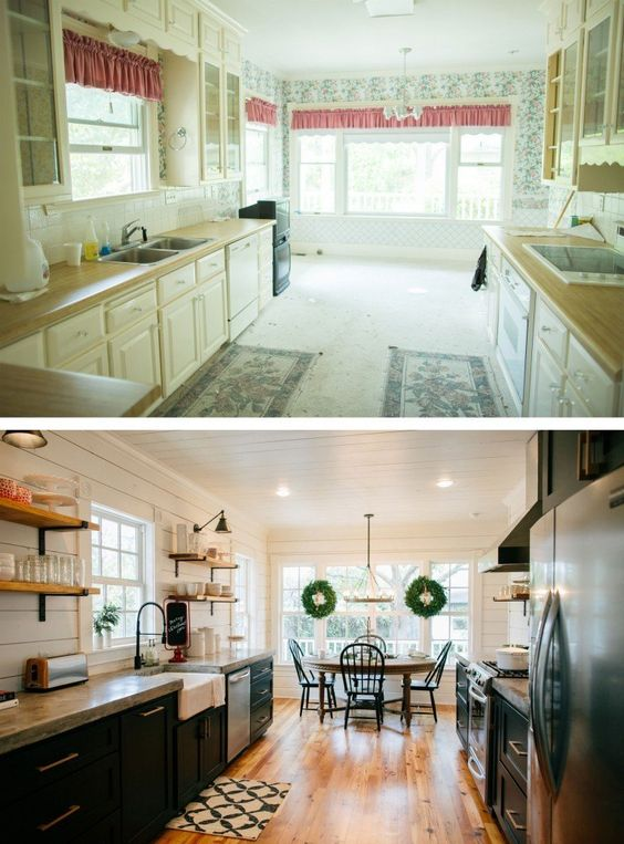 Remodelaholic 6 design elements of a fixer upper kitchen for Magnolia house bed and breakfast mcgregor texas