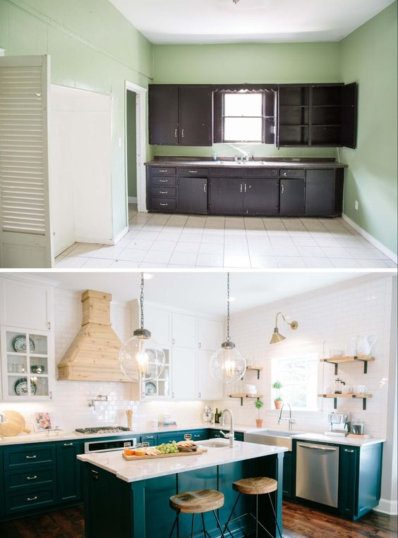 Love the look of the kitchens on Fixer Upper? Get the look in your own home with these 6 Design Elements of a Fixer Upper Kitchen featured on Remodelaholic.com Fixer Upper Kitchen - Season 3, The Little Pigs House