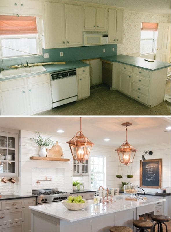 remodelaholic 6 design elements of a fixer upper kitchen diy options. Black Bedroom Furniture Sets. Home Design Ideas