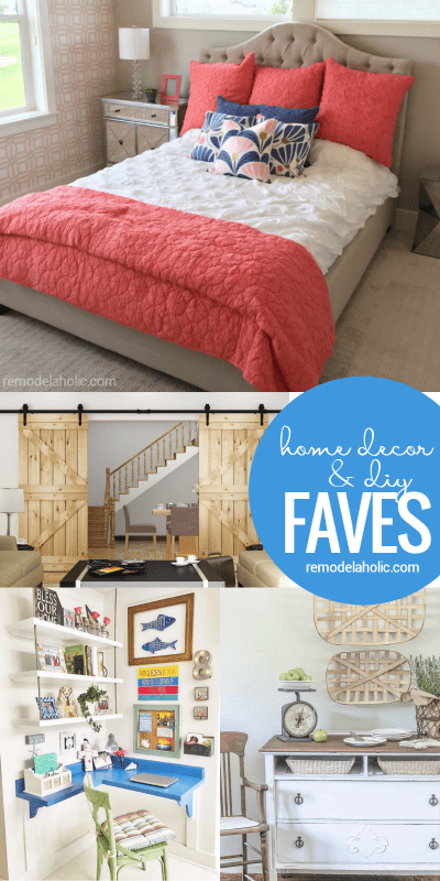 Friday Favorites: barn doors, a telescoping table, and a beautiful corner (home) office -- plus farmhouse projects, upcycles, and more! @Remodelaholic