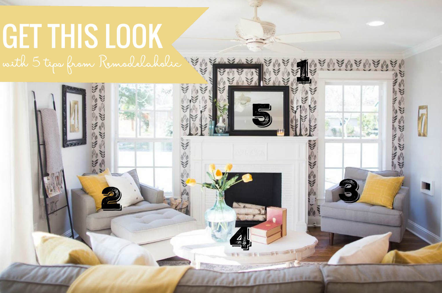 Remodelaholic get this look contemporary farmhouse for Does the furniture stay on fixer upper