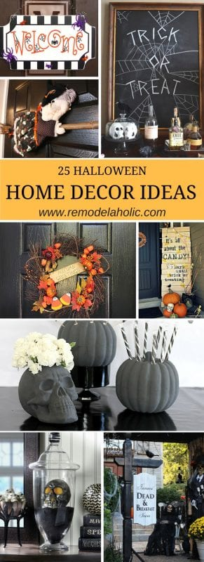Halloween home decor ideas pin 2