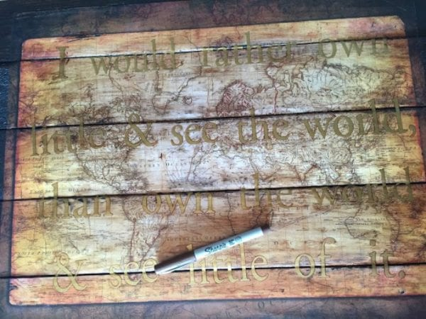 Pallet Map for DIY wall decor