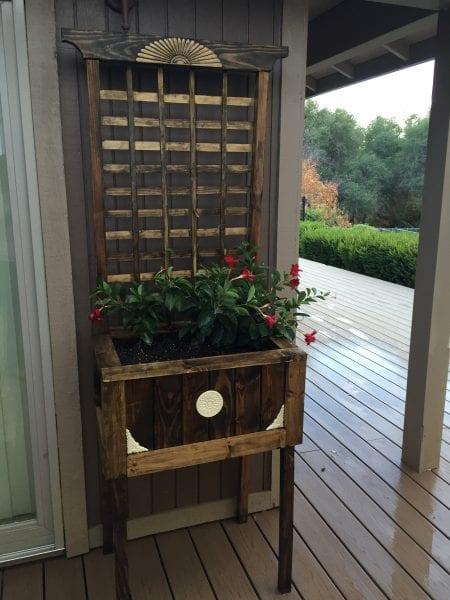 Pinspiration Mommy, DIY raised planter with trellis