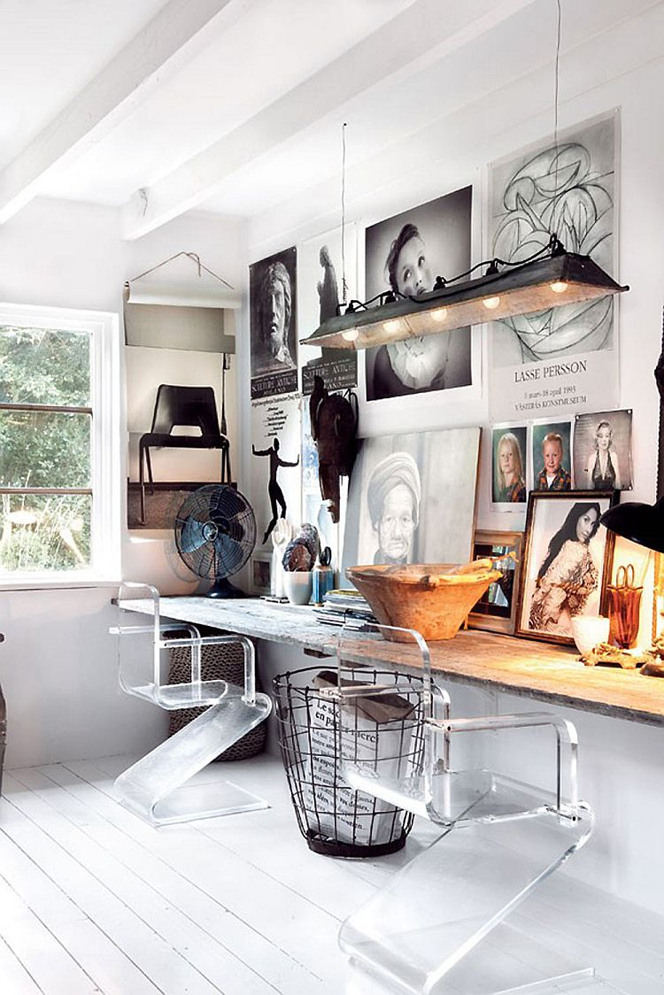 Rustic Modern Office Inspiration + Tips on @Remodelaholic | Image Source: decoist.com Design: Marie Olsson Nylander