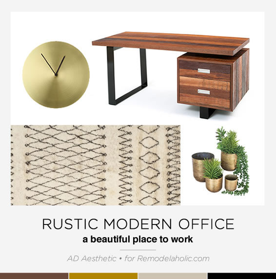 Rustic Modern Office Pin Image