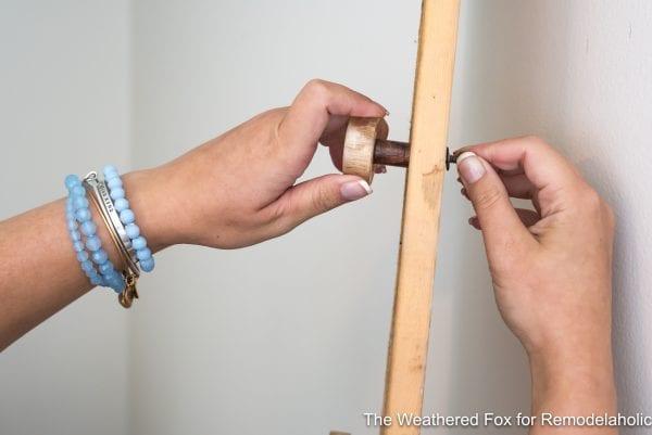 The Weathered Fox Farmhouse Wall Rack Adding Knobs