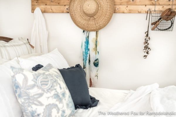 The Weathered Fox Farmhouse Wall Rack. Organize your room with this rustic wall rack