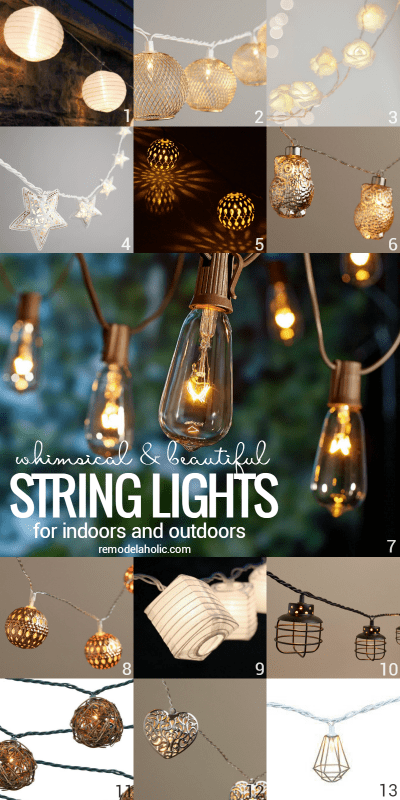 These whimsical string lights will add beauty and ambiance to any space, indoor or out @Remodelaholic
