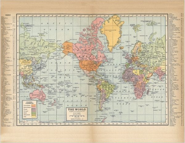Vintage Maps for display in your home, via Remodelaholic