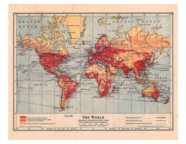 Remodelaholic 20 more free printable vintage map images 6 heart world via vintage printable vintage maps sciox Images
