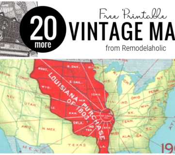 Vintage Map Collection, Download For Free To Use In DIY Home Decor, From Remodelaholic