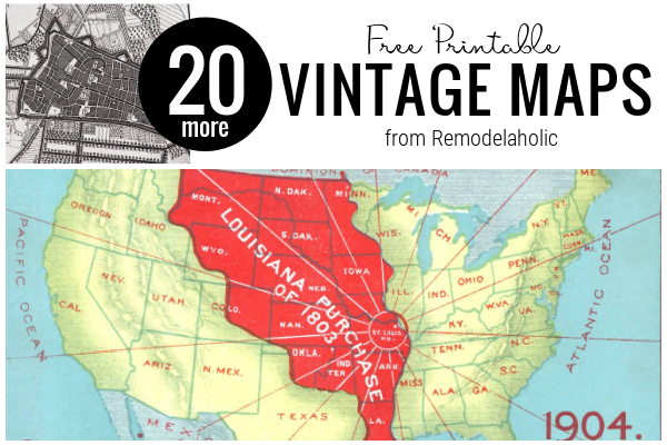 20 (More) Free Vintage Map Printable Images