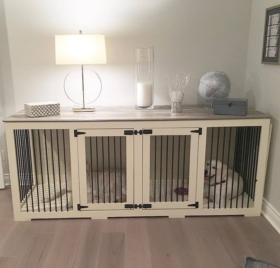 Beautiful Dog Kennel Console Table By B Kustom Kennels