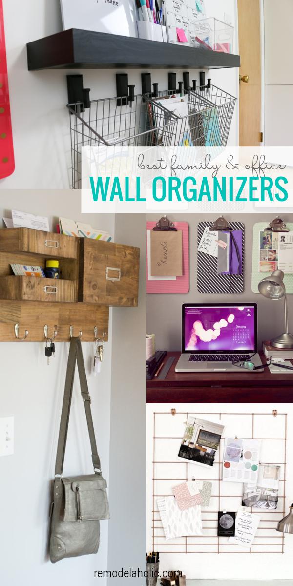 As melhores ideias de organizador de parede faça você mesmo para home office e centros de comando de parede de organização familiar #remodelaholic