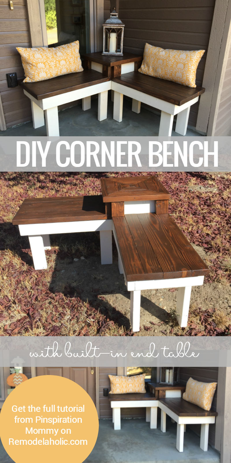 Remodelaholic | Build a Corner Bench with Built-in Table