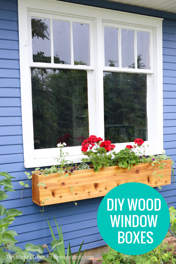 Diy Cedar Wood Window Boxes To Add Curb Appeal, Remodelaholic