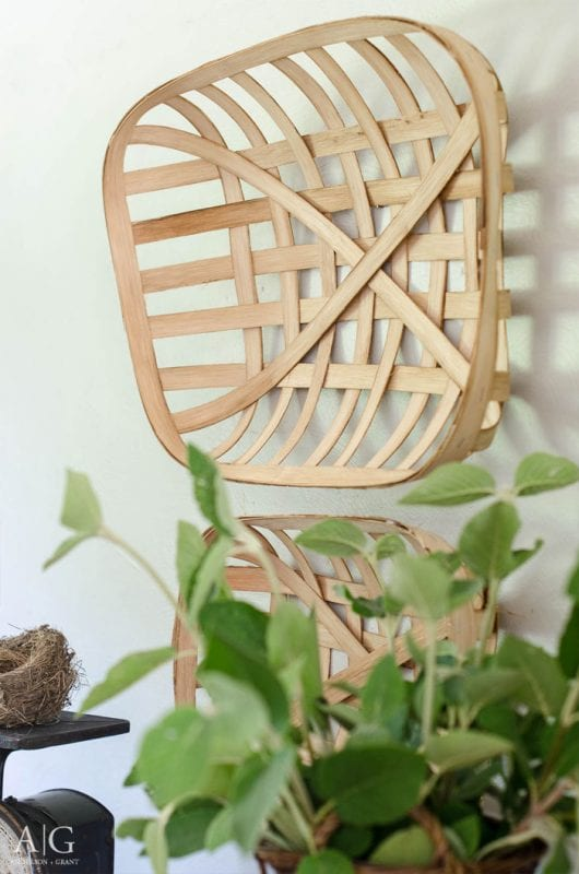 diy tobacco basket to hang on the wall, Anderson and Grant