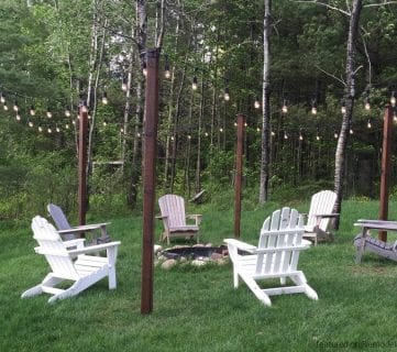 Easy DIY Outdoor Lighting Around a Fire Pit