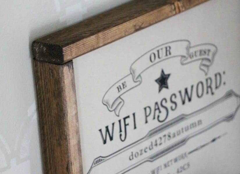 Remodelaholic Free Editable Guest Wifi Printable