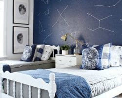feat boys space and astronaut inspired room, Classy Clutter