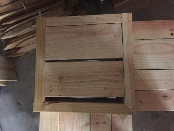 "Attach table box with wood glue and 2 1/2"" pocket hole screws"