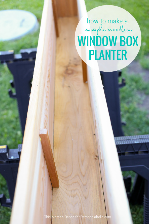 How To Make A Simple Wooden Window Box Planter And Add Curb Appeal, Remodelaholic
