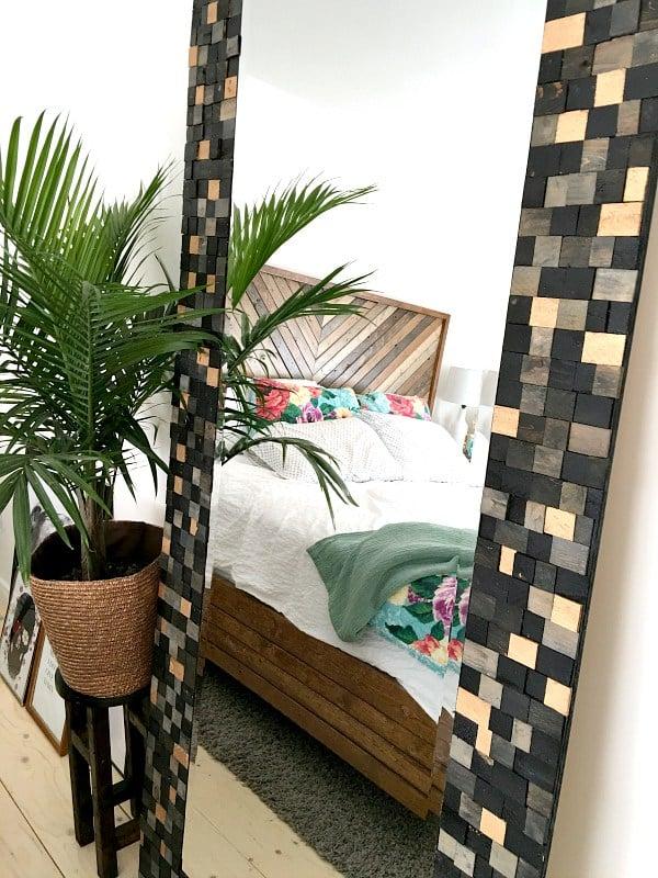 master bedroom wood shim mirror, Sharktails