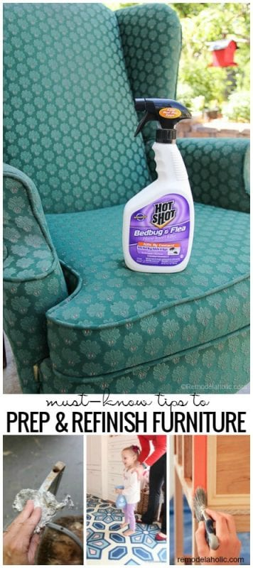 Buying secondhand furniture instead of new can save you a bundle of money while giving you a unique and custom piece. Preparation is the key to a great finished product, so follow these must-know tips to refinish furniture, for both wood furniture and reupholstering, for a successful furniture rehab. @Remodelaholic