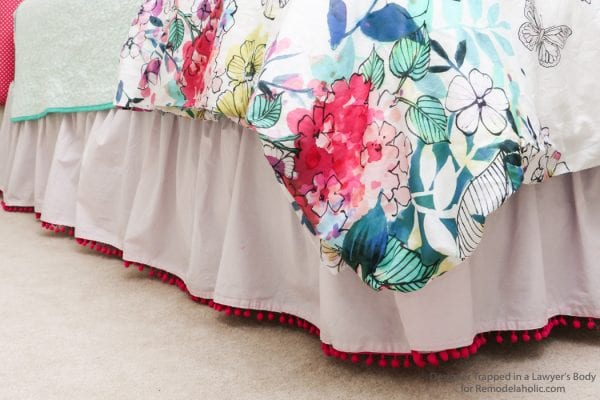 remodelaholic semi pom pom bed skirt