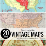 Printable Vintage Maps For DIY Home Decor, A Collection From Remodelaholic