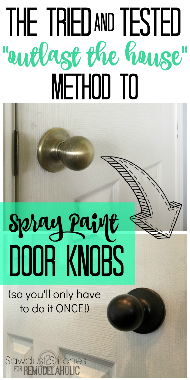 Ordinaire How To Upgrade Door Knobs With Spray Paint    The RIGHT Way So Youu0027