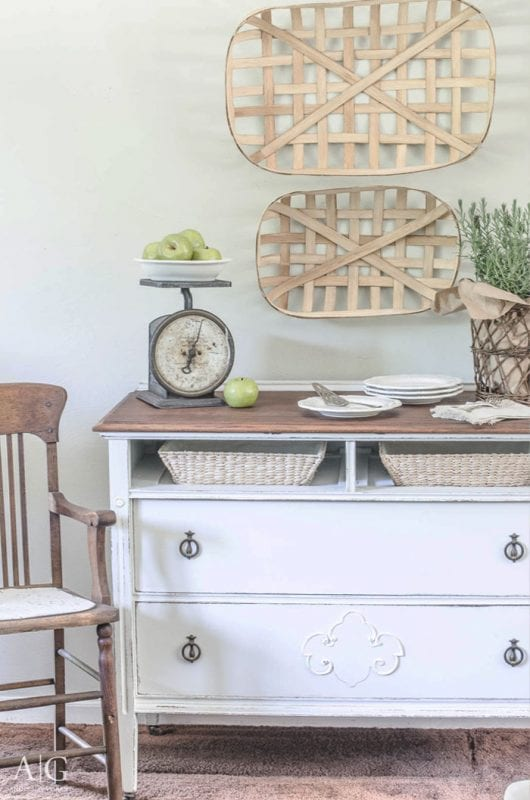 vintage dresser turned sideboard or dining room buffet, Anderson and Grant