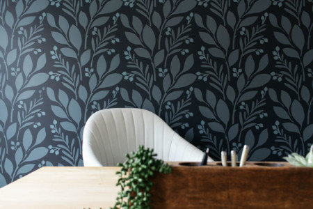 Wall Stencil After Horizontal via Bloom in the Black