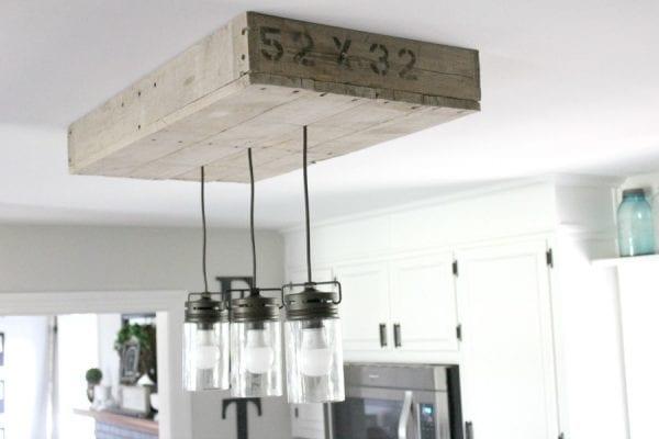diy kitchen lighting. Diy Kitchen Lighting. Diy-palletwood-lightbox-for-kitchen-island- Lighting