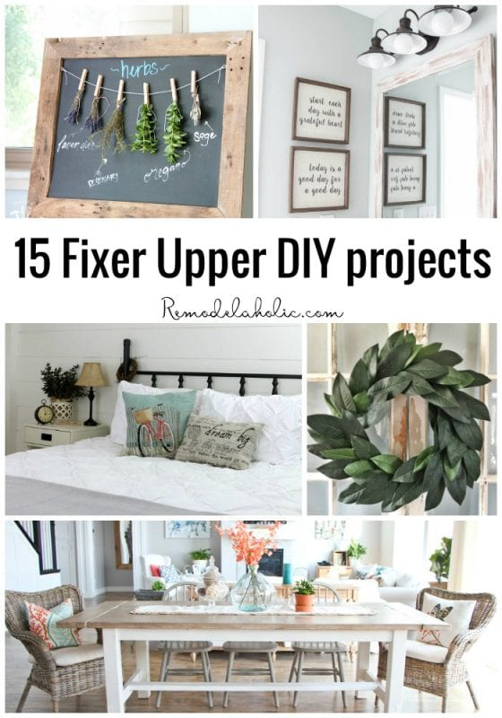 remodelaholic 15 fixer upper diy projects. Black Bedroom Furniture Sets. Home Design Ideas
