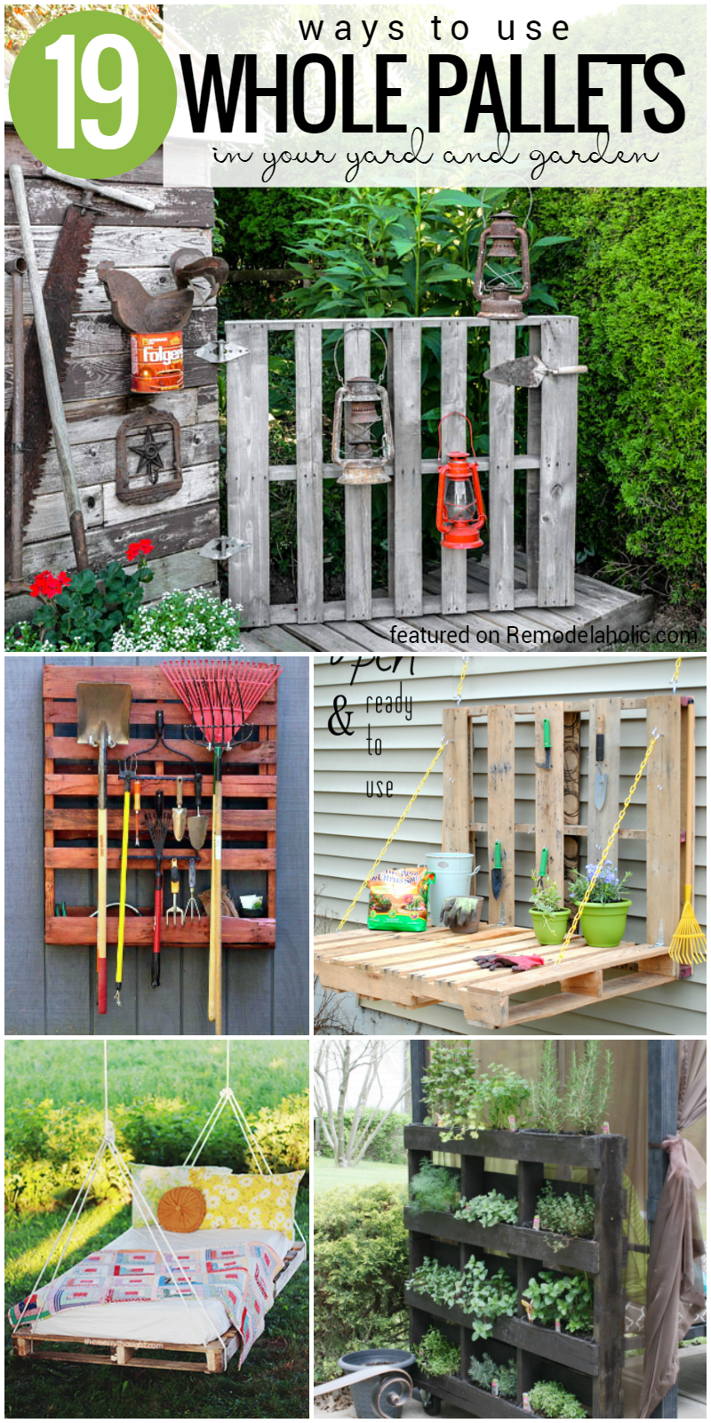 Remodelaholic   37 Whole Pallet Projects, AKA Things You ...