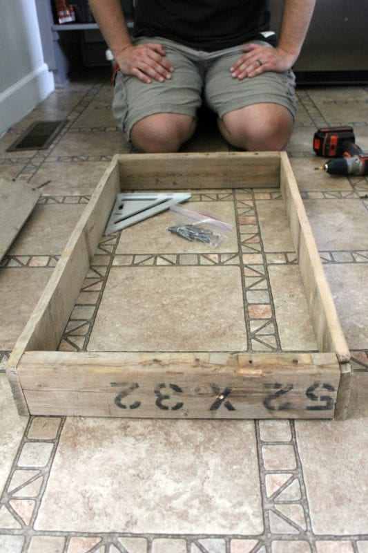 Diy light box for kitchen island pallet wood noting grace featured on