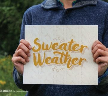 Free Printable: Sweater Weather