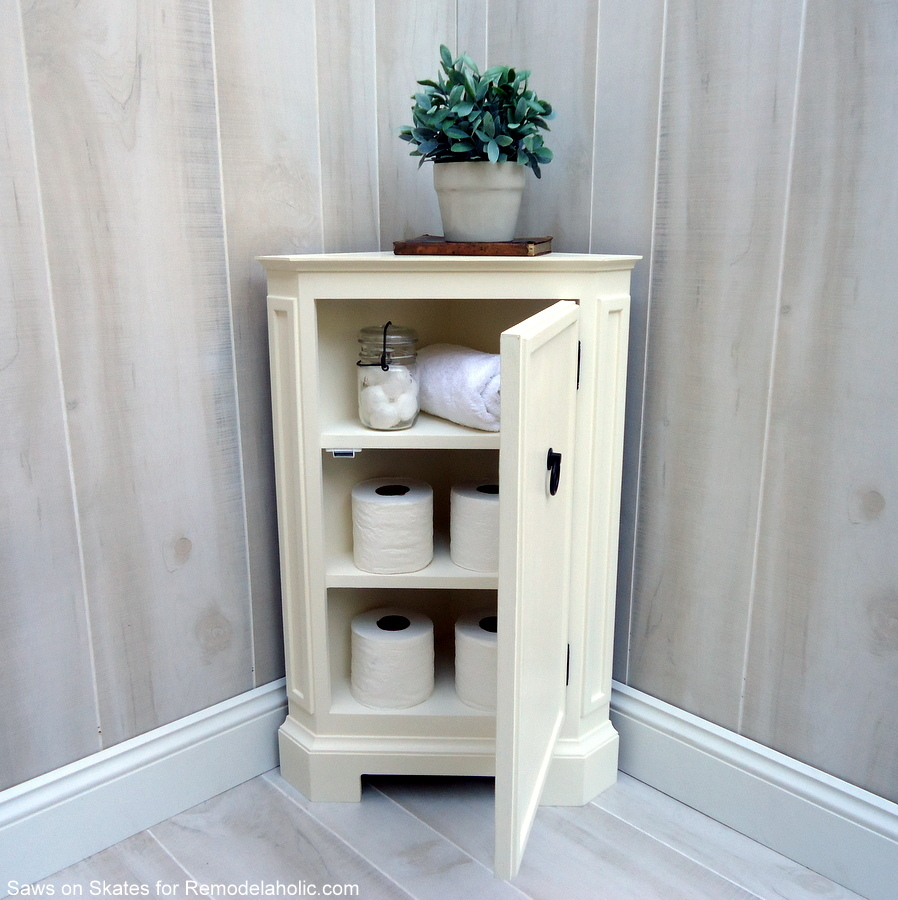 Diy Storage Cabinet Plans: How To Build A Catalog Inspired Corner Cabinet